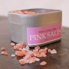 Breast Cancer Yoga Wellness Products: Breast Cancer Healing With Pink Salt Gifts For Cancer Patients, Breast Cancer Gifts, Breast Cancer Survivor, Breast Cancer Awareness, Herbalism, Healing, Yoga, Wellness Products, Pink
