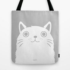 Meow Tote Bag by Greg Abbott - $22.00