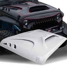 "TOPFIRE ""Fury Hood"" Replacement Hood for Jeep Wrangler Including Rubicon, Sahara and Sport, and Grey Wrangler Jeep, Jeep Jku, Jeep Willys, Jeep Rubicon, Jeep Wrangler Accessories, Jeep Accessories, Badass Jeep, Jeep Mods, Custom Jeep"
