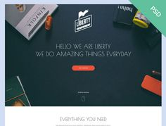 Liberty PSD Template is designed and shared by Thanh Luu.