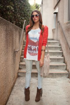 Fringe Bag + Boots. // RED SOCK, WHITE LAUNDRY