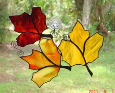 Create your Own Floating Trio of Fall by StainedGlassAndMore, $39.99