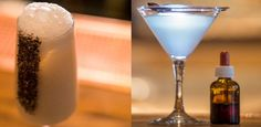 Left: the Shaker Boys, The Clumsies\u0027 take on the classic Ramos. Right: the Circle of Life, a martini served with a dropper bottle of mouth\u002Ddrying solution to heighten the flavors in the cocktail.