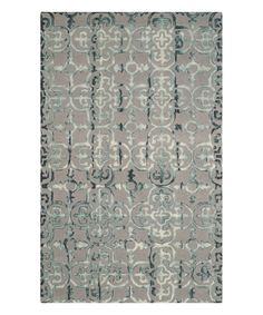 Look at this #zulilyfind! Gray & Charcoal Delaney Wool Rug by Safavieh Rugs #zulilyfinds