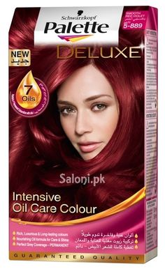 schwarzkopf palette deluxe intensive oil care color smooth red violet 5 889 - Coloration Bio Schwarzkopf