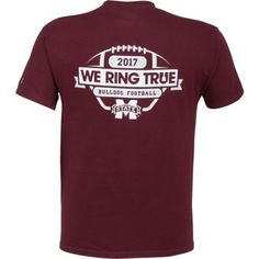 Champion Men's Mississippi State University 2017 Football Fan T-shirt (Red Dark, Size Medium) - NCAA Licensed Product, NCAA Men's Tops at Academy S...
