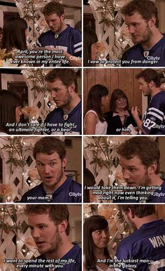 When April and Andy got married, and Andy said this.