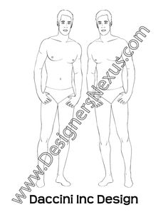 This free mens fashion croqui shows a male fashion figure standing in a casual front view pose with hands on hips. Ideal for sketching fashion illustrations of menswear designs for pants with western pockets or slant pockets at front hip. Download this free male fashion croqui template in Adobe Illustrator format to sketch vector fashion …