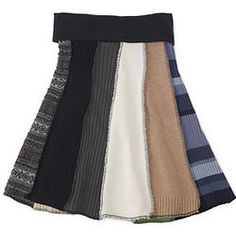 Recycled Sweater Skirt #recycled