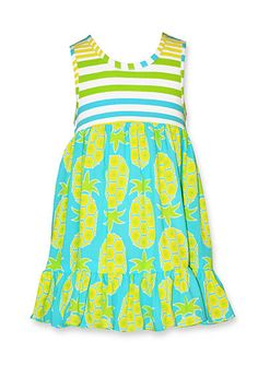 37b55a2646a Bonnie Jean® Stripe Pineapple Challis Dress Girls 4-6x Toddler Girl  Dresses, Girls