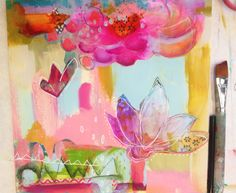 Student painting from one of Alena Hennessey's workshops... love!