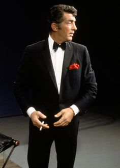 The one, the only Dino. Good profile shot, - location unknown and undated. Possibly a taping of The Dean Martin Show.