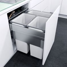 cabinet Pulls Trash Bins - VauthSagel Oeko XX Liner for Cabinet Pull Out Trash Can