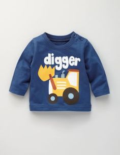 Dig it! I thnk I am going to try to sew a digger like this onto my youngest one's shirt....