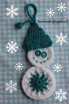 Snowman ornament free pattern