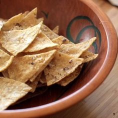 Corn tortilla chips: Lately, I've gotten into the habit of making my own corn chips, a process that has proved to be deeply satisfying on so many levels