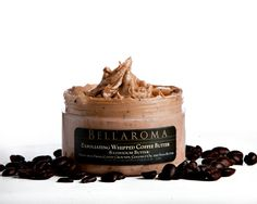 Bellaroma | Exfoliating Whipped Coffee Butter Shower Cream Enjoy a powerful boost of caffeine!  An aromatic blend studded with richly grounded brazilian coffee for a natural exfoliant and creamy coffee butter for instant skin-softening moisture. Coffee is packed with antioxidants and caffeine has the effect of tightening your blood vessels leading to tighter firmer skin