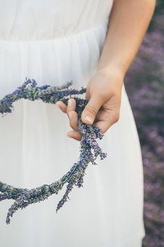 #Blumenkranz aus #Lavendel