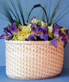 Easy Oval Twill Basket Pattern. I love the clean lines of a twill pattern.