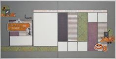Karen Pedersen: Play Group Scrappin' Class Halloween Layouts and a Christmas Card with the October Stamp of the Month