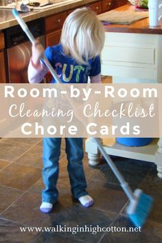 Need some helpfrom the family with keeping up the housework? Trying to teach your children a regular cleaning routine? Room by Room Cleaning Checklist Chore Cards for Kids. Cleaning Checklist, Cleaning Schedules, Chore Cards, Life Values, Chores For Kids, Parenting Teens, Child Models, Kids Cards, Family Life