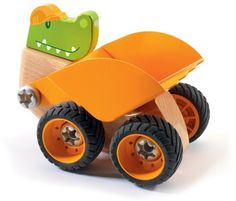 Able to hold his own from the lounge room to the sand pit; Croco Bob can be taken apart and combined with other Djeco Construction vehicles for the ultimate earth-moving machine http://www.entropy.com.au/djeco-zooblock-construction-croco-bob #sandplay #outdoortoys #zooblock