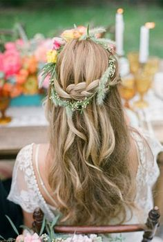 Adorable half up half down bridal hair
