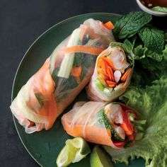 No Fry Shrimp Spring Rolls Recipe Ingredients & Directions Crunchy Asian Salad, Appetizer Recipes, Appetizers, Shrimp Spring Rolls, Asian Recipes, Ethnic Recipes, Fried Shrimp, No Cook Meals, Healthy Eating