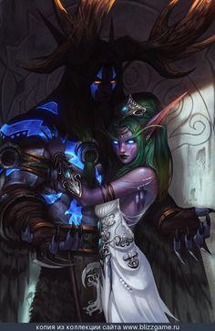 Tyrande and Malfurion by Sia