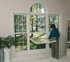 Easy Cleaning Double Hung Windows