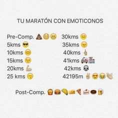 La maratón explicada con emoticonos
