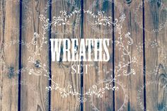 Hand drawn wreaths and frames   Freebies PSD