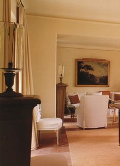 The living room at Givenchy's house in Saint Jean Cap Ferrat, the French Riviera. From the book, THE GIVENCHY STYLE. via markdsikes. Architecture Details, Interior Architecture, Interior And Exterior, Guest Room Decor, Ferrat, Interior Decorating, Interior Design, Paris Apartments, French Country House