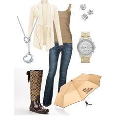 Rainy Day Outfit - the rain boots are my favorite part of the outfit!