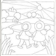 Quilting y Patchwork - manosalaobratv Applique Quilt Patterns, Wool Applique, Embroidery Applique, Embroidery Patterns, Patch Quilt, Quilt Blocks, Doll Quilt, Sewing Appliques, Machine Applique