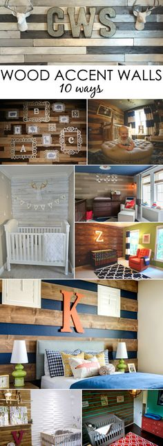 Nursery or Kids Room Wood Accent Wall Ideas - Project Nursery