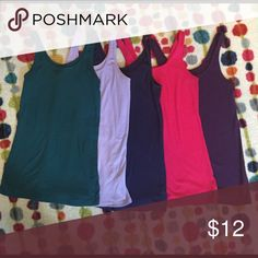Bundle!! 5 Old Navy tank tops - size Small 5 Old Navy tank tops in colors shown.  Great for layering or worn alone.  Worn but in great condition - no stains, tears, etc. Old Navy Tops Tank Tops
