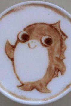 Fish Latte Art