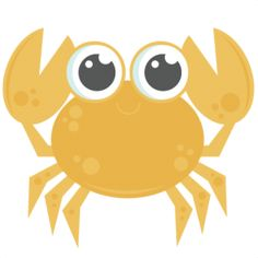 Crab: Miss Kate Cuttables-- SVG cutting files for scrapbooking ocean svg cut files ocean svg cuts beach svg files