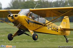 I have an hours tuition on this Piper Super Cub G-LCUB at headcorn at the tiger club before I got my Tail Wheel conversion on G-BTFJ.