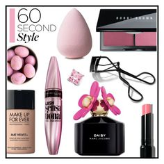 """""""60 Second Style"""" by misskarolina ❤ liked on Polyvore featuring beauty, Bobbi Brown Cosmetics, MAKE UP FOR EVER, Maybelline, Marc Jacobs, Palm Beach Jewelry, 60secondstyle and weekendbeauty"""
