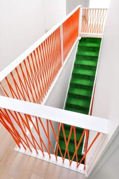 Staircases in a home can enhance a home's decor. The sky is the limit when it comes to stair design. A beautiful staircase has the potential of becoming a stunning focal point in any home. In fact… House Stairs, Carpet Stairs, Gate House, Hall Carpet, Interior Stairs, Interior And Exterior, Architecture Details, Interior Architecture, Stair Handrail