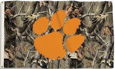 Clemson Tigers Camo Premium 3' x 5' Flag W/Grommets