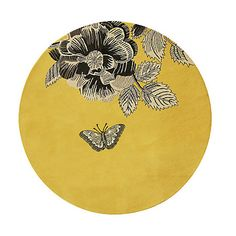 This is a rug, but I love the yellow color and the simplicity of the art--a great print for the wall, or a pillow, etc.