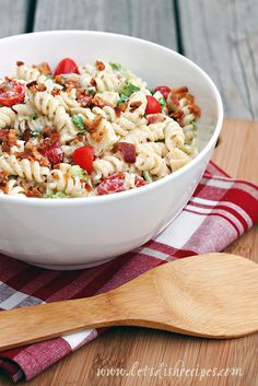Salads and sandwiches are two of my favorite summertime meals, and this tasty pasta salad combines both into one amazing dish.  It has all the flavors of a classic BLT with the addition of ranch dr...
