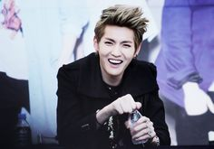 love it when he smiles #kris