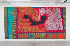 """3 x 6 m exhibition view, """"De-generation of Painting"""", Fondazione Turin Turin, Mixed Media, Quilts, Blanket, Cotton, Painting, Inspiration, Art Ideas, Biblical Inspiration"""