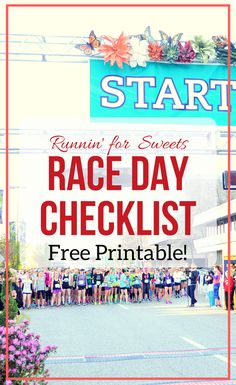 The Ultimate Race Day Checklist: Free Printable for Runners. Packing list includes everything you'll need to run your best race. 5k, 10k, Half Marathon, and Marathon for beginner runners to seasoned pros.