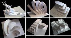 Студенческие работы по архитектурной композиции (абстрактные модели)
