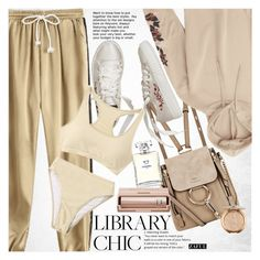 """""""Study Session: Library Chic"""" by vanjazivadinovic ❤ liked on Polyvore featuring Chloé, Chanel, polyvoreeditorial, librarychic and zaful"""